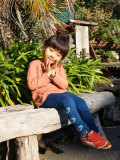 asana KIDS レギンス 草木しぼり