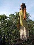 asana 森のパッチワーク ロングベスト