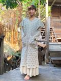 asana HEMP100% 麻柄刺し子刺繍 貫頭衣