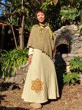 asana 手織りHEMPバイアススカート・手刺繍