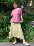 asana パッチワーク スカート