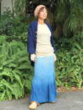 asana ラップスカート 草木絞り染め