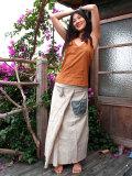 フリンジ タイパンスカート・ポケット刺繍
