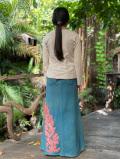 asana ヘンプコットン ふかふか 刺繍スカート