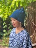 asana HEMP100% 手編み とんがり帽子・草木染め