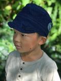 asana x natucoral KIDS ヘンプ シルク 手刺繍 キャップ・草木染め