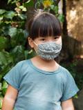 asana KIDS ヘンプコットン やわらか 薄手 麻柄プリント 布マスク