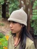 asana HEMP100% 手編み とんがり帽子