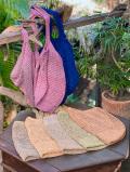 asana HEMP100% 手編み たっぷり ショルダーバッグ・草木染め