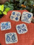 HEMP100% 手刺繍コースター