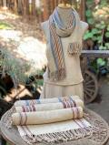 HEMP100% 手織り カラー ストライプ ショール