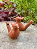 陶器の鳥の水笛