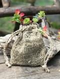 HEMP100% ニット 手編み 巾着袋