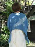 asana x Mandalaya ウイング ポンチョTee・藍染め