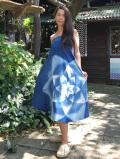 asana x 和水家 ロングスカート・オーガニック藍染め