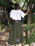 asana × orie HEMP100% 切り替え スカート