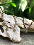 真鍮&ウッドビーズ ネックレス