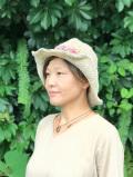 SHANTI SHANTI ヘンプコットン フラワー モチーフ 編みハット