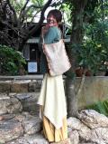 手織りHEMP 手縫いバッグ