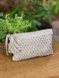 HEMP100% 手編みポーチ・Lサイズ