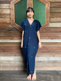 HEMP100% ヤオ族 手縫い 手刺繍 貫頭衣 ロング ワンピース