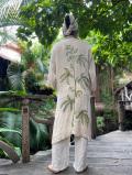 HEMP100% 大麻刺繍 ロング ジャケット