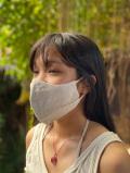 asana HEMP100% テロテロ 布マスク・きなり