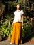 asana HEMP100% 切り返しスカート