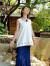 asana HEMP100% 麻柄刺繍タンク