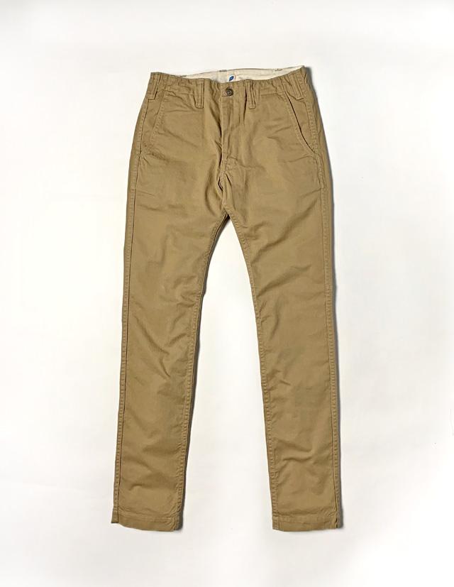 [1148] Sulfur Dyed Slub Chino Trousers (Beige)