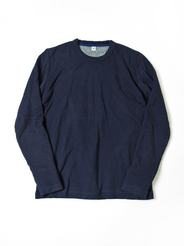 [5357] Indigo Double Faced Crewneck T-Shirt