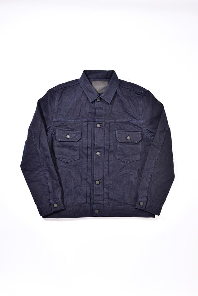 [6081] 17.5oz. Double Natural Indigo Hand Dyed Denim Type 2 Jacket