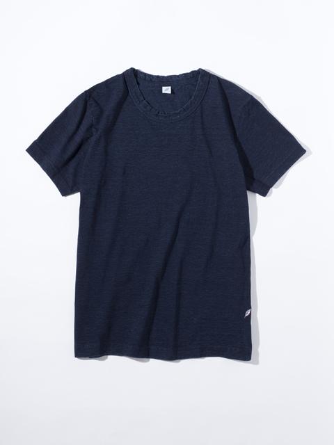 [SS5011] Indigo Jersey Crew Neck T-shirt