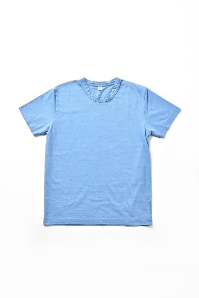 [SS5011-P] Indigo Jersey Crew Neck T-shirt - Pale Indigo