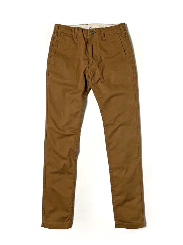 [1148] Sulfur Dyed Slub Chino Trousers (Camel)