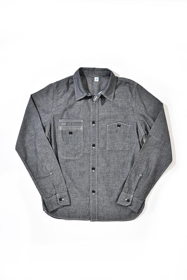 [2209-1] Indigo Chambray Work Shirt