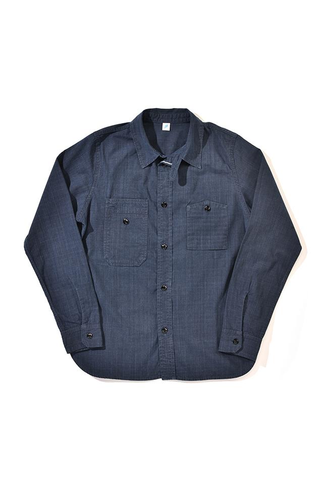 [2209-2] Double Natural Indigo Chambray Work Shirt