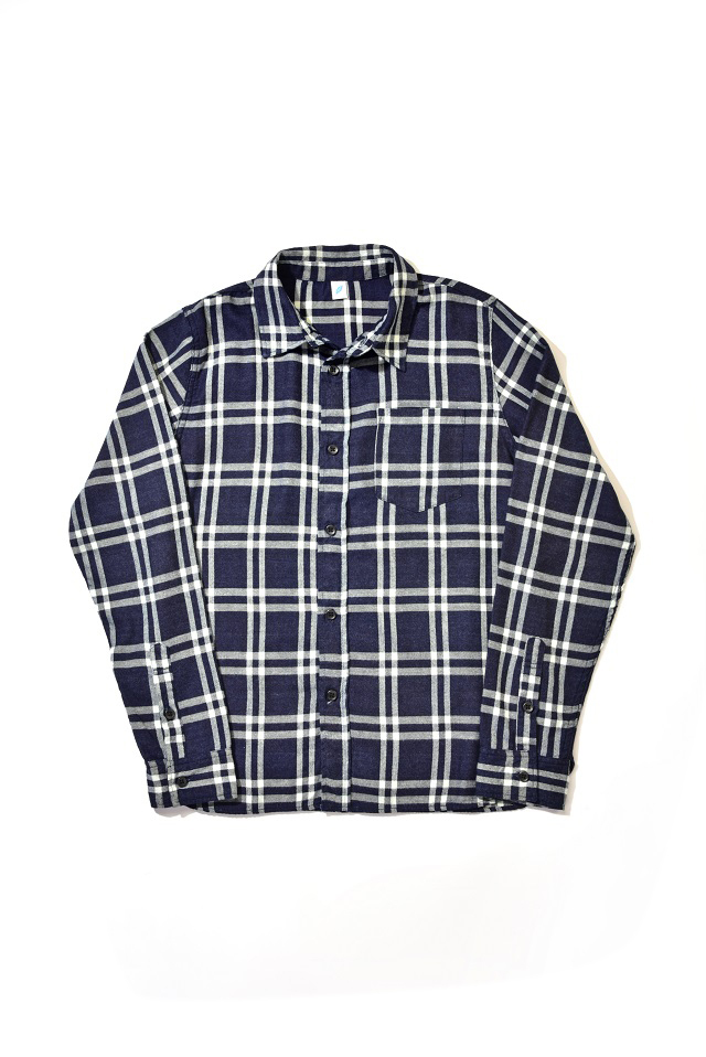 [2213] Indigo Check Flannel Shirt