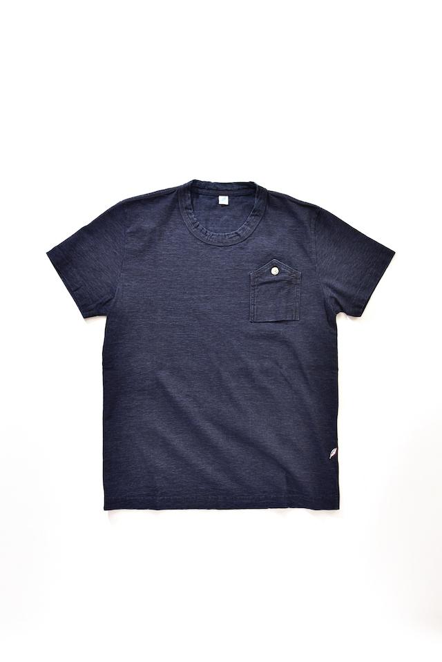 [5384] Indigo Jersey T-shirt with Work Pocket