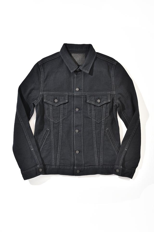 [6097-BB] Selvedge Black Sashiko Denim Type 3 Jacket
