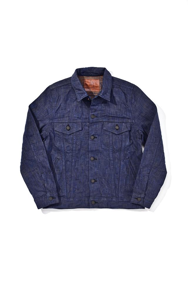 [6105-2] 17.5oz. Natural Indigo x Kakishibu Hand Dyed Denim Type 3 Jacket