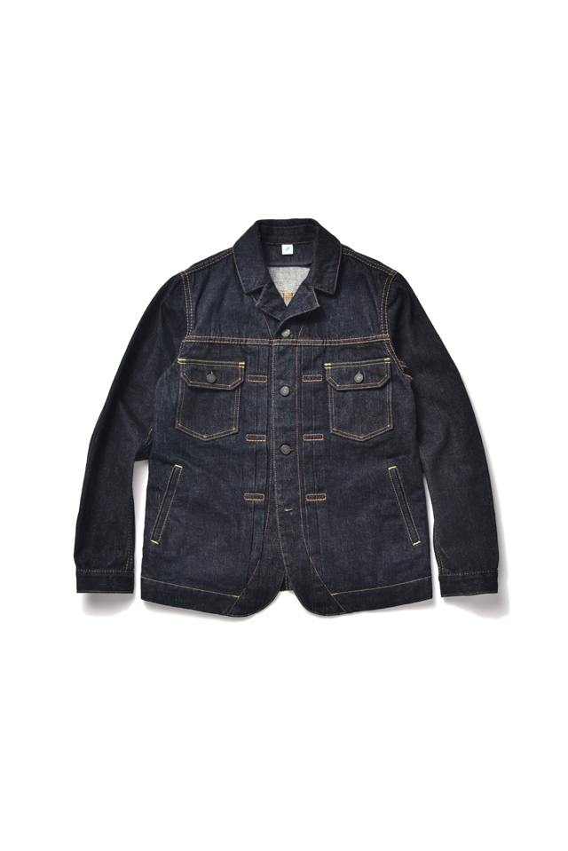 [6110-1] 13oz Denim Tailored Type 2 Jacket - Indigo