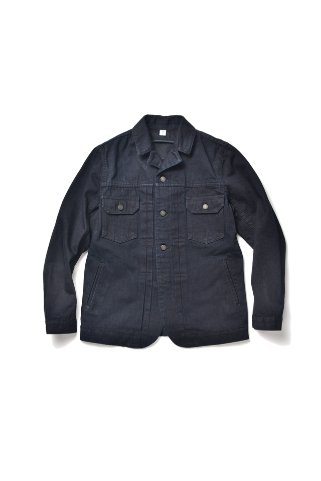 [6110-2] 13oz Denim Tailored Type 2 Jacket -  Indigo x Black