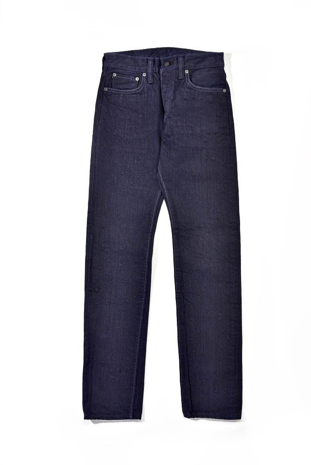 [AI-013-WID] 17.5oz. Double Natural Indigo Slim Tapered
