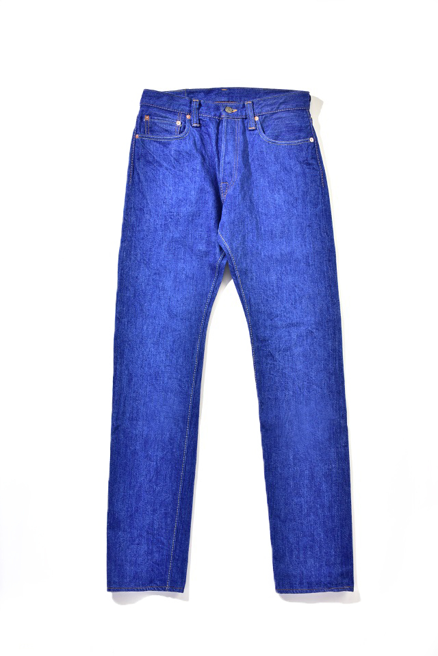 [BRT-019] 14.5oz. Bright Blue Denim Relaxed Tapered