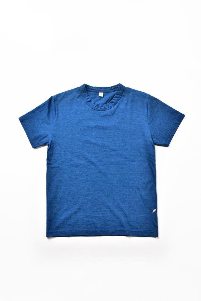 [SS5011-M] Indigo Jersey Crew Neck T-shirt - Middle Indigo