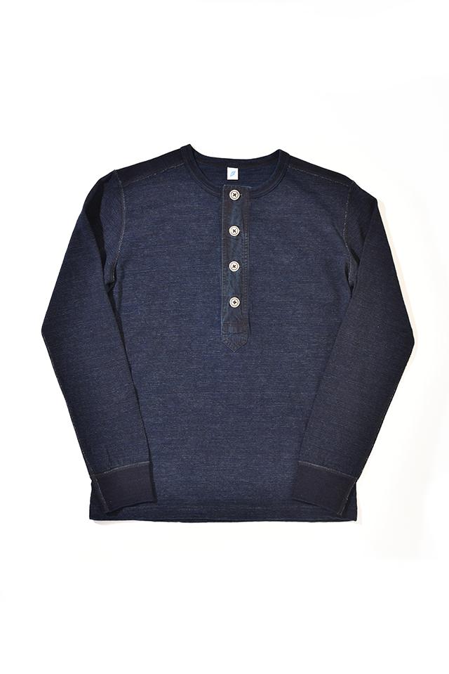 [LS-5386] Slub Jersey Henley Pullover Long Sleeve T-shirt
