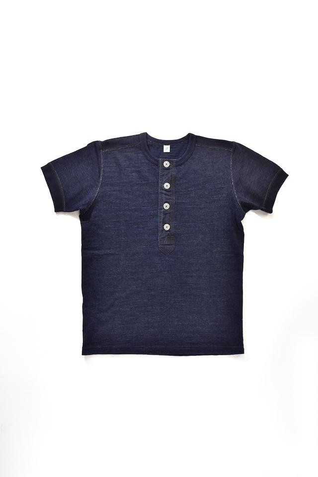 [SS-5386] Slub Jersey Henley Pullover Short Sleeve T-shirt