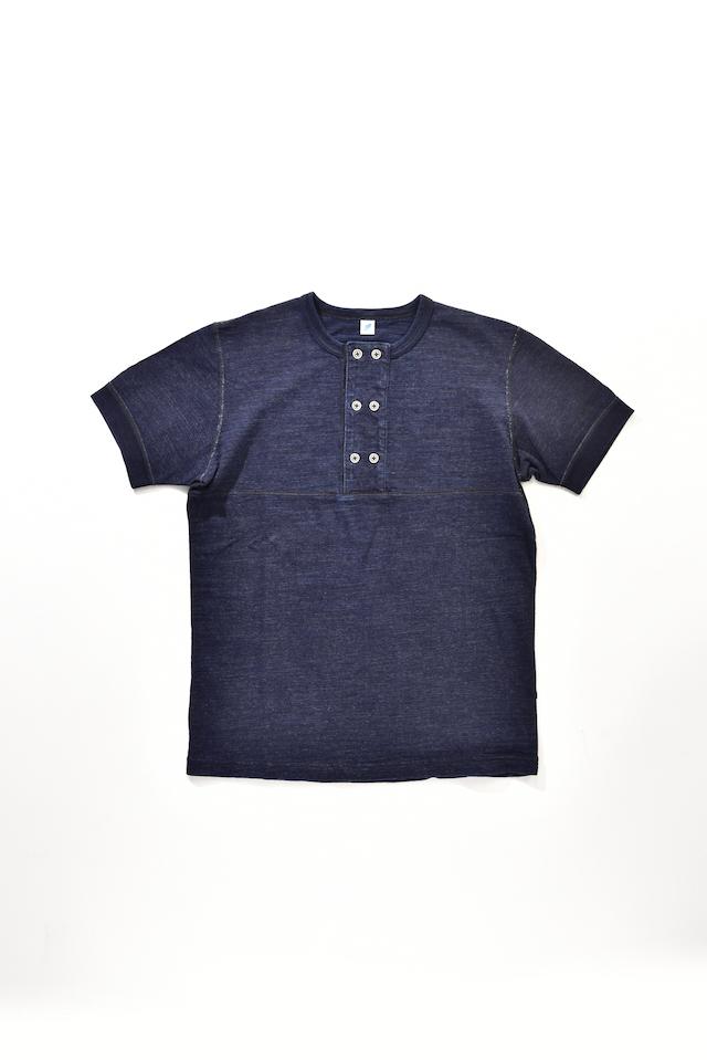 [SS-5388] Slub Jersey Double Button Henley Short Sleeve T-shirt