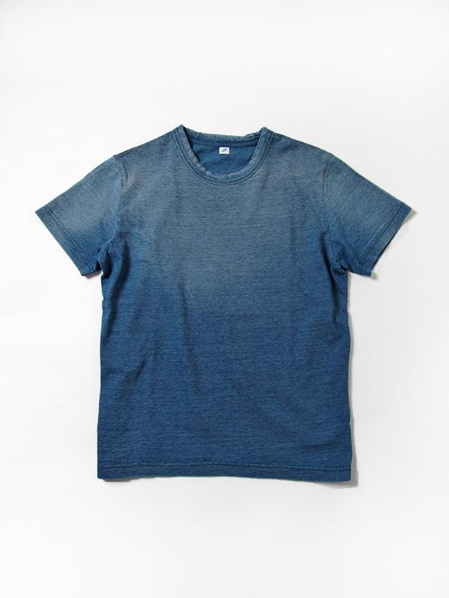 [SS-5011-SB] Sunburned Indigo Jersey Crew Neck T-shirt